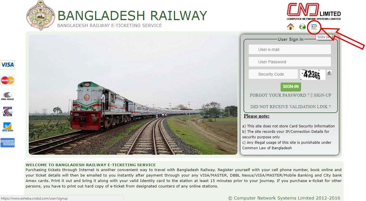 Bangladesh Railway Online Ticket