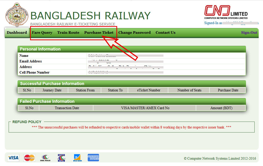 Bangladesh Railway Online Ticket Purchase